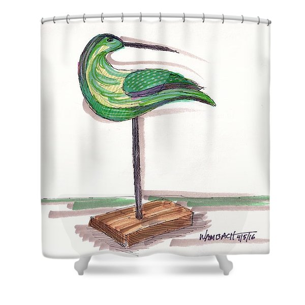 Water Fowl Motif #3 Shower Curtain