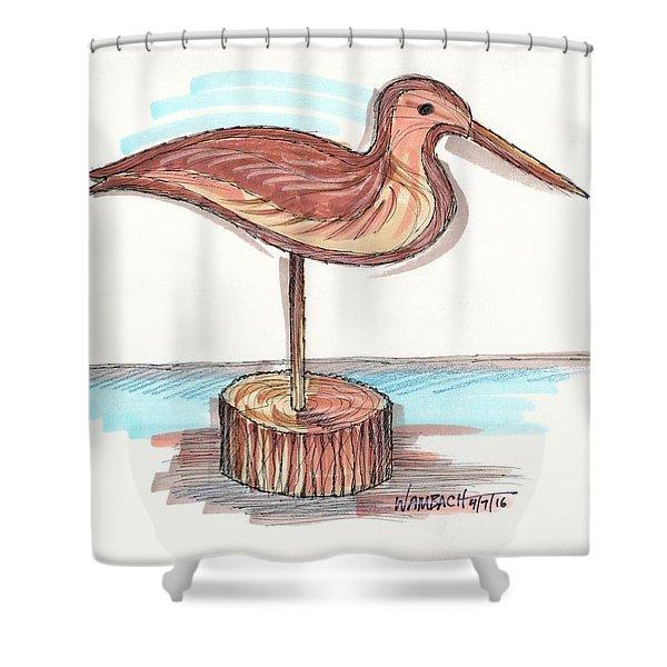 Water Fowl Motif #4 Shower Curtain