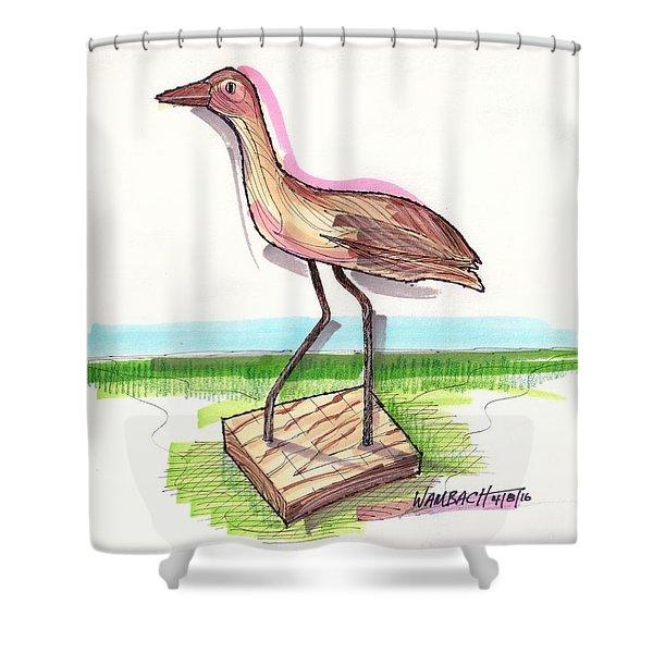 Water Fowl Motif #5 Shower Curtain