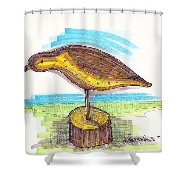 Water Fowl Motif #7 Shower Curtain