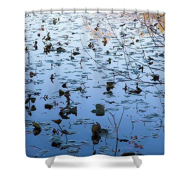 Water Lilies Autumn Song Shower Curtain