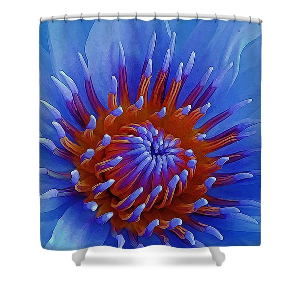 Water Lily Center Shower Curtain