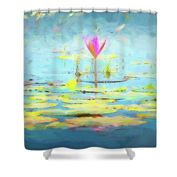 Water Lily - Tribute To Monet Shower Curtain
