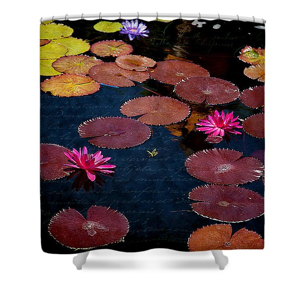 Water Lily World Shower Curtain