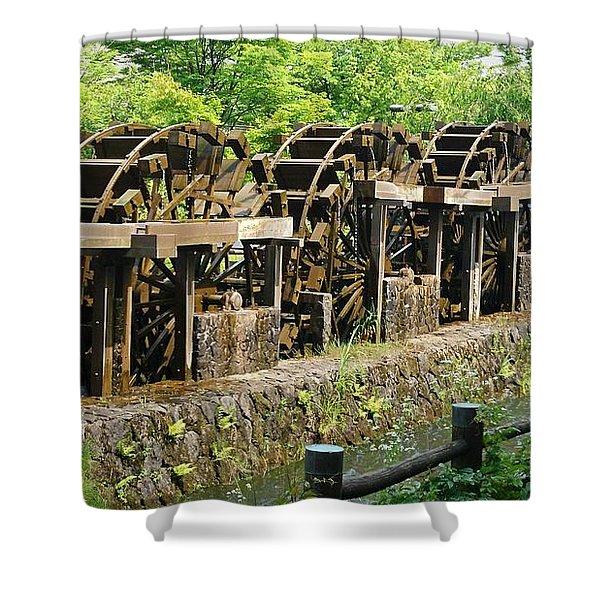 Water Wheel2 Shower Curtain