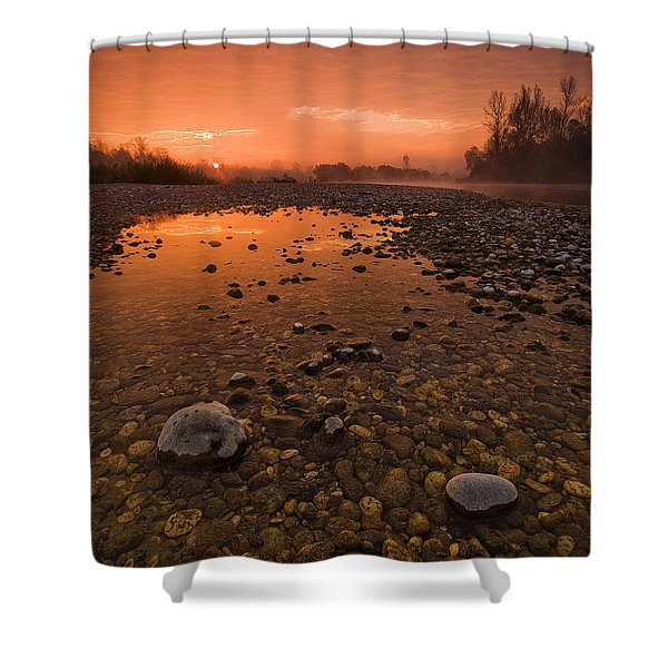 Water On Mars Shower Curtain