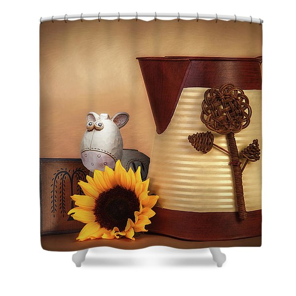 Water Pitcher Still Life Shower Curtain