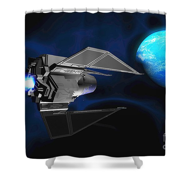 Water Planet Shower Curtain