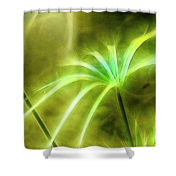Water Plants Shower Curtain
