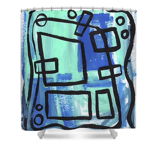 Water Pockets Shower Curtain