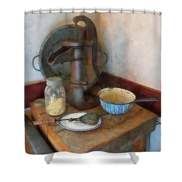 Water Pump In Kitchen Shower Curtain