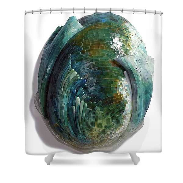 Water Ring II Shower Curtain