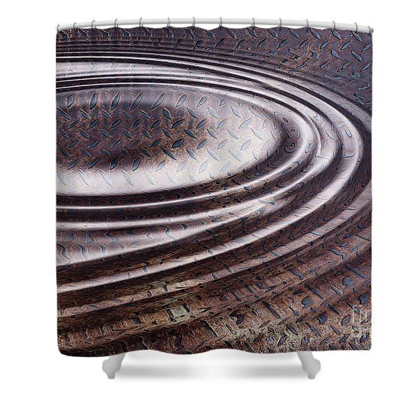 Water Ripple On Rusty Steel Plate  Shower Curtain