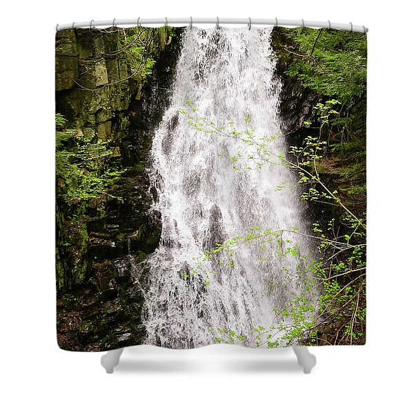 Water Roaring Down Cascade Falls, Farmington, Maine  -30377 Shower Curtain