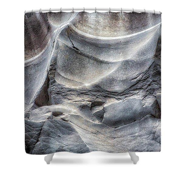 Water Sculpting Rock Art By Kaylyn Franks  Shower Curtain