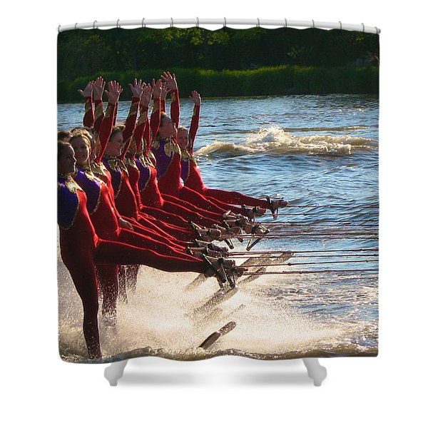 Water Ski  Shower Curtain