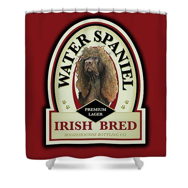 Water Spaniel Irish Bred Premium Lager Shower Curtain