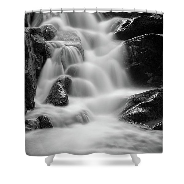 water stair in Ilsetal, Harz Shower Curtain