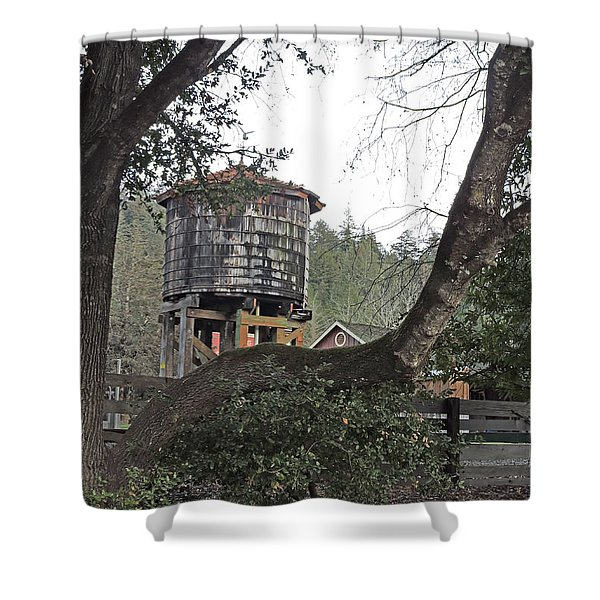 Water Tower @ Roaring Camp Shower Curtain