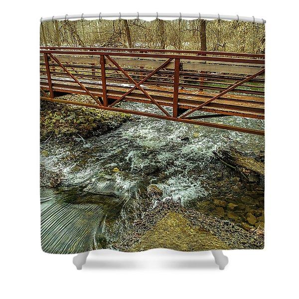 Water Under The Bridge Shower Curtain
