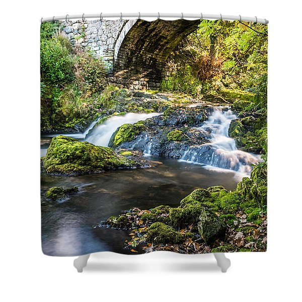 Shower Curtain featuring the photograph Water Under The Bridge by Nick Bywater