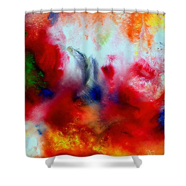Watercolor Abstract Series G1015a Shower Curtain