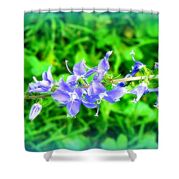 Watercolor Blooms Shower Curtain
