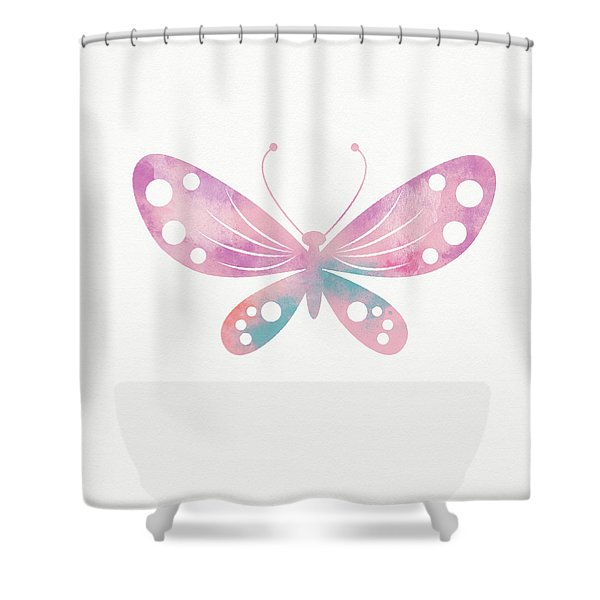 Watercolor Butterfly 1- Art By Linda Woods Shower Curtain