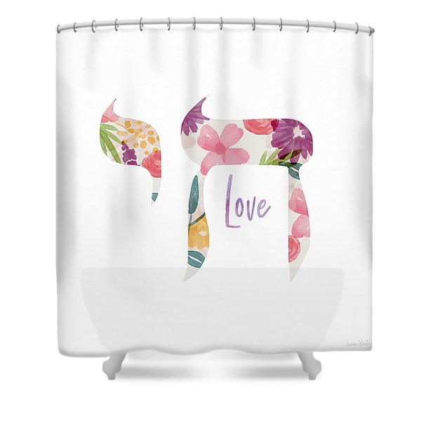 Watercolor Floral Chai Love- Art By Linda Woods Shower Curtain