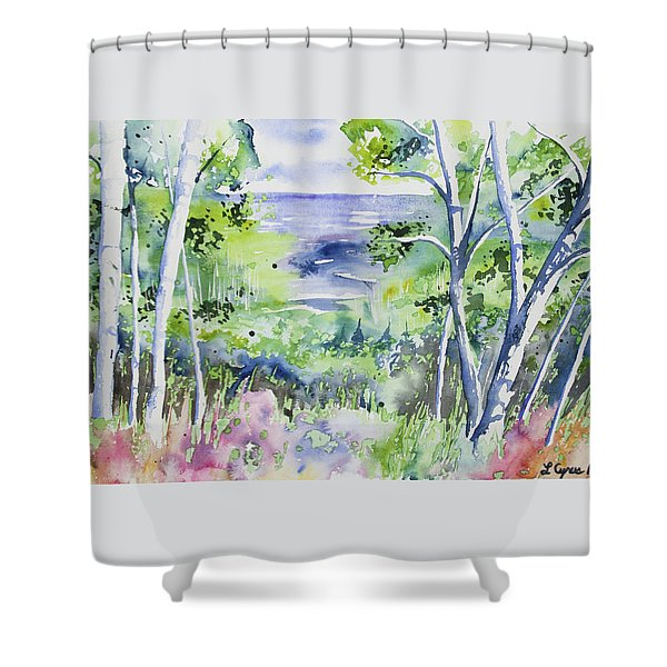 Watercolor - Lake Superior Impression Shower Curtain