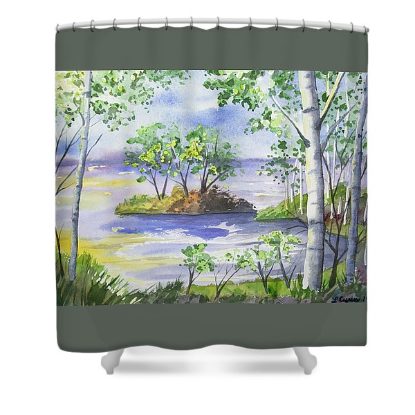 Watercolor - Minnesota North Shore Landscape Shower Curtain