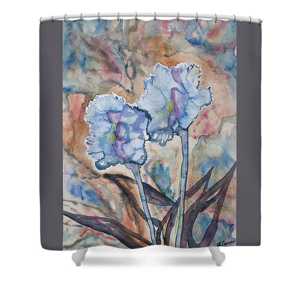 Watercolor - Orchid Impression Shower Curtain