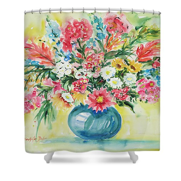 Watercolor Series 58 Shower Curtain