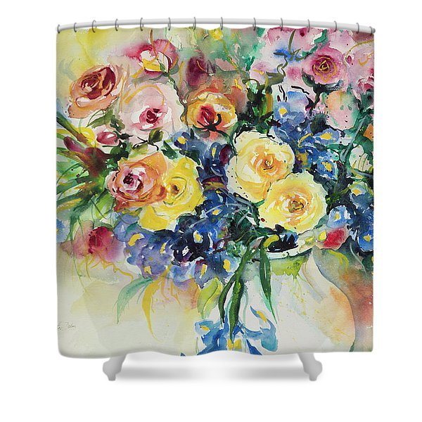 Watercolor Series 62 Shower Curtain