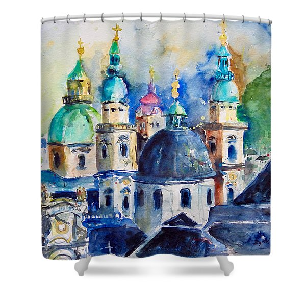 Watercolor Series No. 247 Shower Curtain