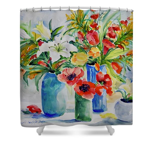 Watercolor Series No. 256 Shower Curtain