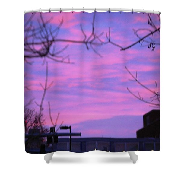 Watercolor Sky Shower Curtain