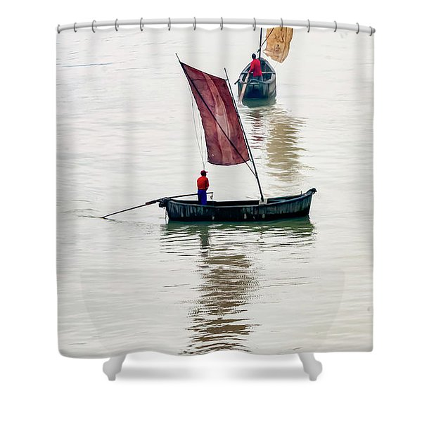 Watercolor. Shower Curtain