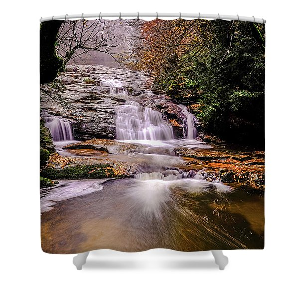 Waterfall-10 Shower Curtain