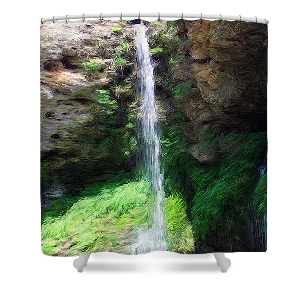 Waterfall 2 Shower Curtain