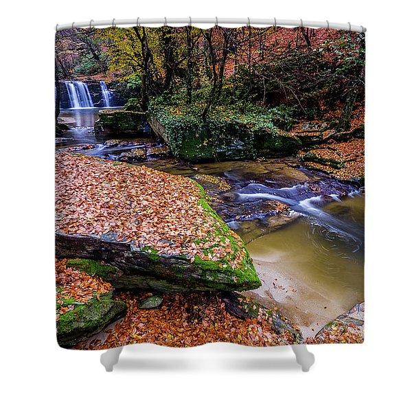 Waterfall-3 Shower Curtain