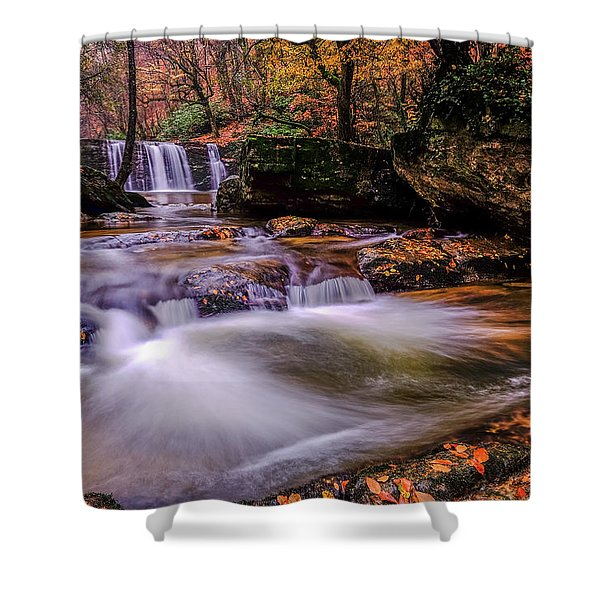Waterfall-9 Shower Curtain