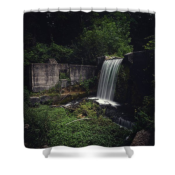Waterfall At Paradise Springs Shower Curtain