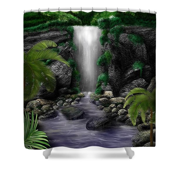 Waterfall Creek Shower Curtain