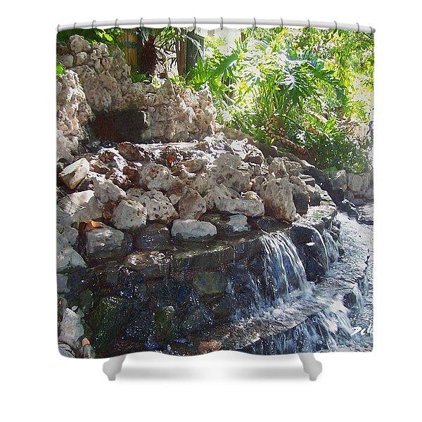 Shower Curtain featuring the digital art Waterfall by Deleas Kilgore