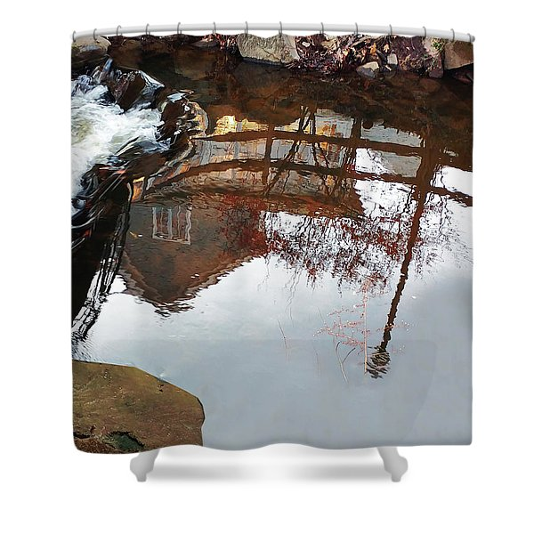 Waterfall From Calm Waters Shower Curtain