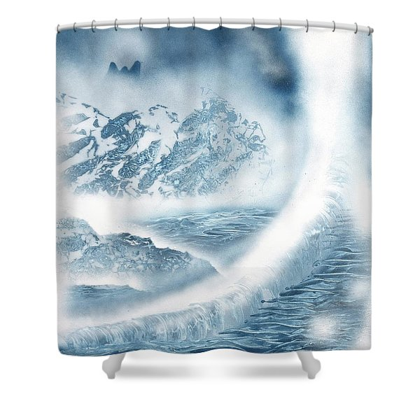 Waterfall From Heaven Shower Curtain