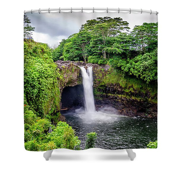Waterfall Into The Valley Shower Curtain