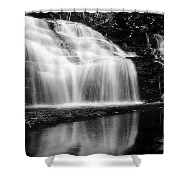 Waterfall Reflection Shower Curtain