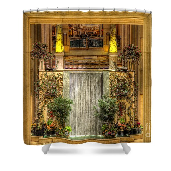 Waterfall View And Hues Shower Curtain